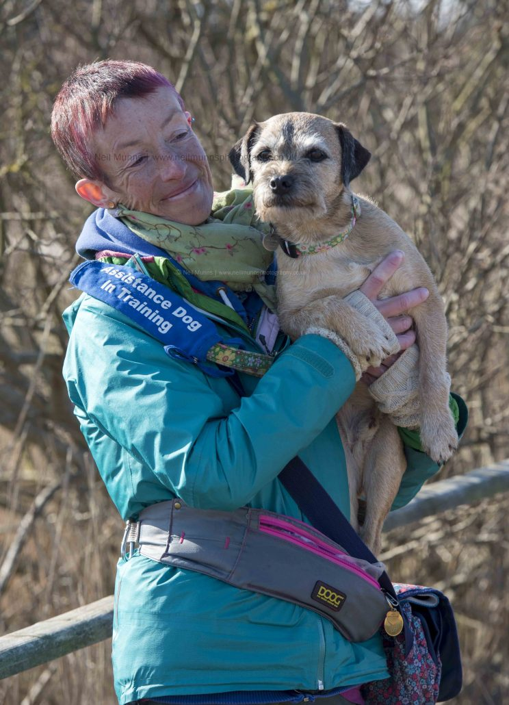 Sir Jack Spratticus the Border Terrier and Vanessa Holbrow