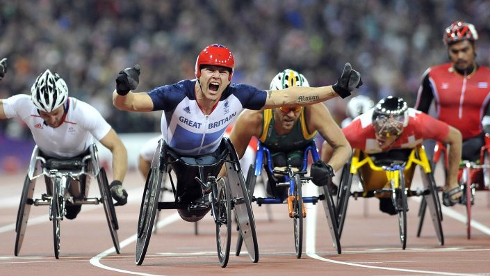 Paralympics London 2012 - ParalympicsGB - david weir wins 500m_Sports & Editorial Photography from © Neil Munns Photography
